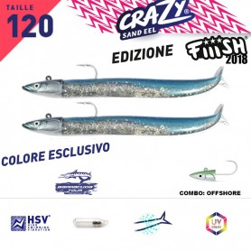 FIIISH CRAZY SAND EEL 120 COMBO X2 OFF SHORE BARRACUDA TOUR
