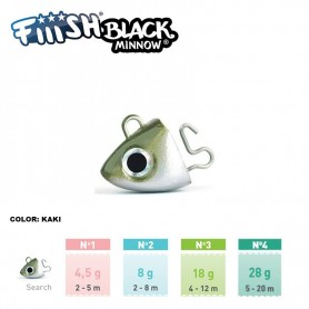 FIIISH BLACK MINNOW RICAMBI JIG HEAD SEARCH
