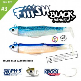 FIIISH BLACK MINNOW 120 N.3 DOUBLE COMBO SEARCH 18 GR