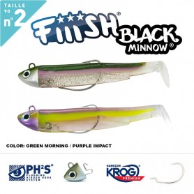 FIIISH BLACK MINNOW 90 N.2 DOUBLE COMBO SEARCH 8 GR