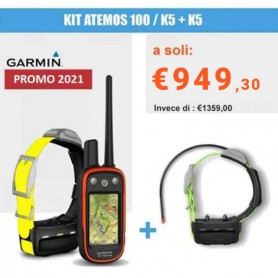 GARMIN KIT GPS ATEMOS 100 / COLLARE K5 OFFERTA LIMITATA