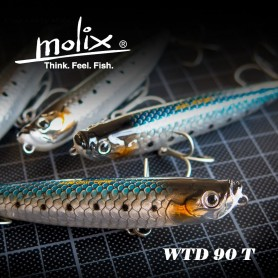 Molix WTD 90T Rattlin - Lures Floating Pencil Bait Molix