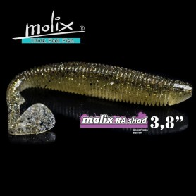 Molix RA Shad 3.8″ - Soft Swimbait Black Bass
