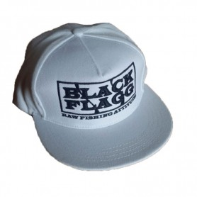 CAP 3D Logo Snap Back Bianco - BLACK FLAGG