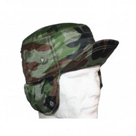 Cappello Piumino Verde Mimetico