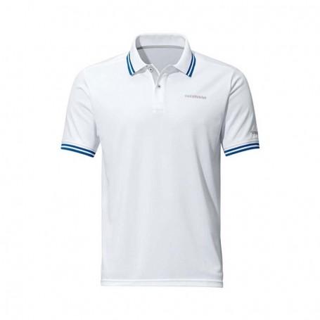 Polo Shirt Short Sleeve White - SHIMANO